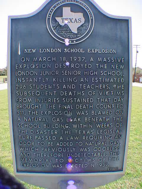 New London Texas School Explosion Cenotaph